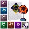 Nueva luz de la noche de DIY IQ lámpara creativa colorida lámpara de origami rompecabezas de cabecera del escritorio de la novedad de luz Barra de la Decoración de regalos para niños lámpara