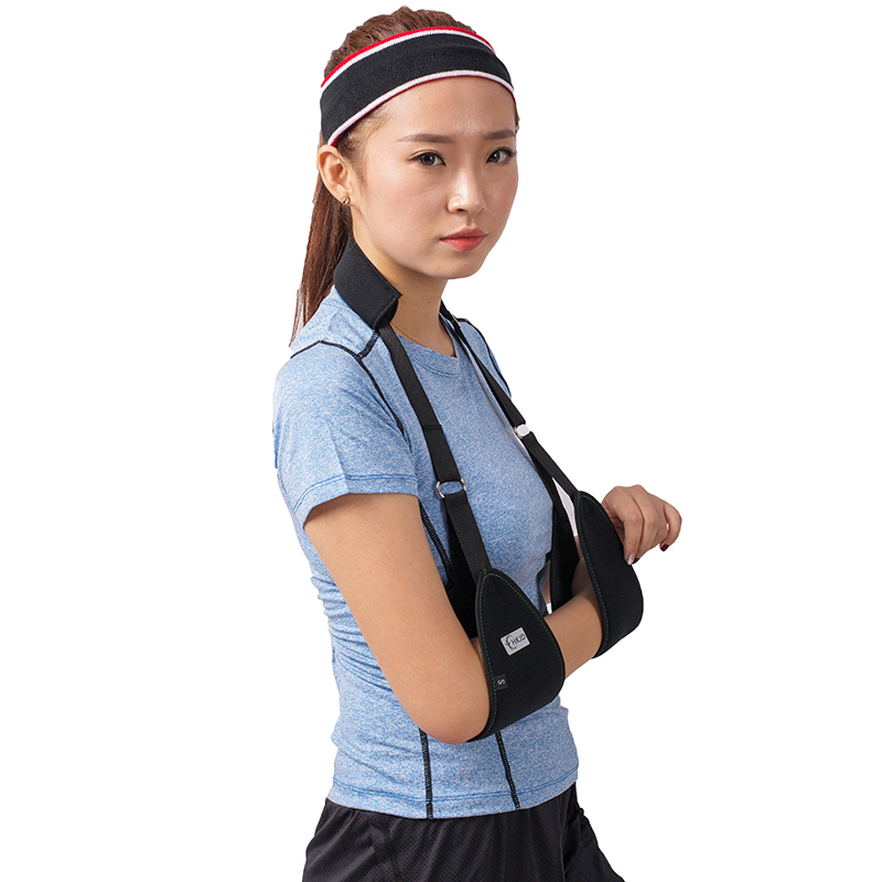 Triangle Dislocated Arm Sling Medical Shoulder Immobilizer Rotator Cuff Wrist Elbow Forearm Support Brace Strap with Soft Pad