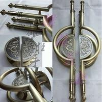 European modern semicircle bronze dragon sculpture Handle / Chinese antique wooden door handle / glass door handle