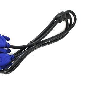 VGA кабель 3 м 10 футов синий 15 контактов SVGA VGA линия папа-папа m/M HDMI Vga для HD передачи провода видео HDTV конвертер адаптер Aux кабель