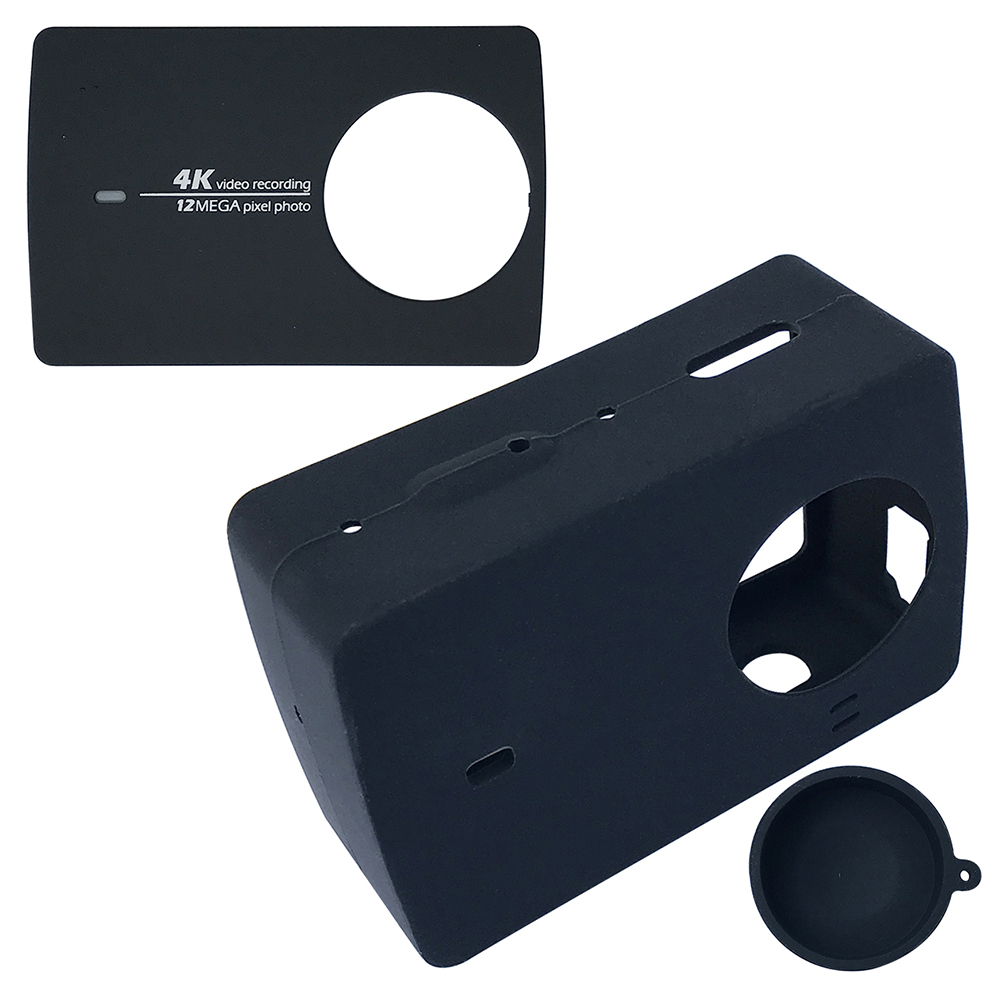Color : Black XIAOMIN for Xiaomi Xiaoyi Yi II Sport Action Camera Aluminum Alloy Housing Protective Case with Lens Protective Cap Premium Material