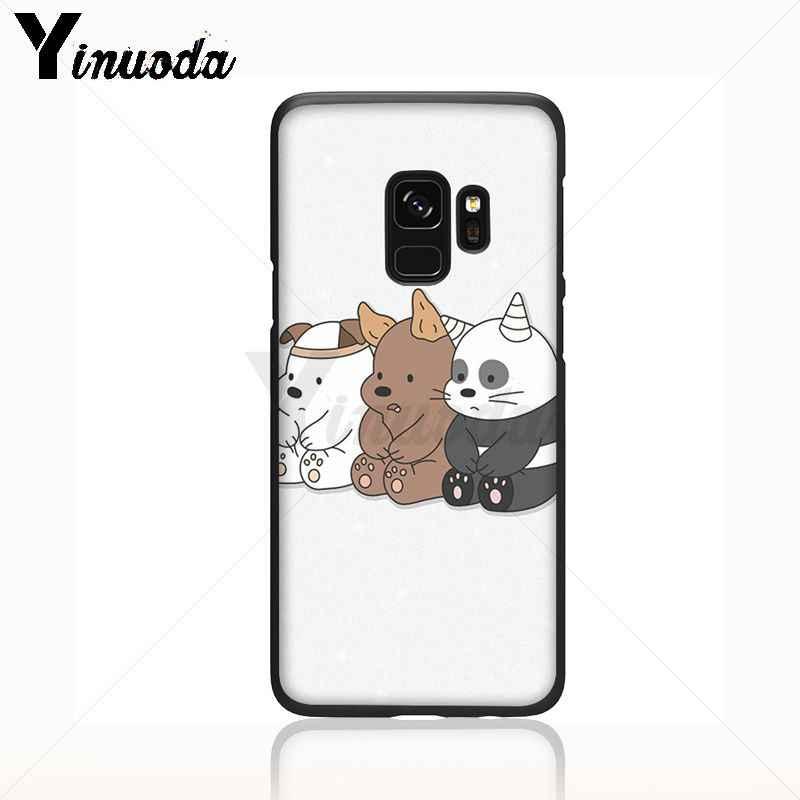 Yinuoda đáng yêu chúng tôi trần gấu amin Đen silicone Điện Thoại Di Động Trường Hợp Đối Với Samsung Galaxy s9 s8 cộng với lưu ý 8 note9 s7 s10lite coque