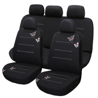 Dewtreetali Car Seat Protector Universal Full Set Front Back Car Seat Covers Embroidery Four Seasons Car