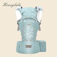 Honeylulu portabebés ergonómico con bolsa de eslinga para recién nacidos, cuatro estaciones, canguro, gorra a prueba de viento, Ergoryukzak Hipseat