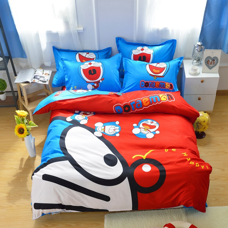 xinlanisnow unids d doraemon de dibujos animados juego de cama para nios nios