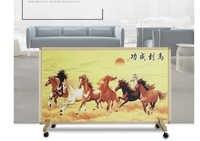 Calentador eléctrico de montaje en la pared de cristal de carbono de pintura calentadores de hogar paneles eléctricos de calefacción por infrarrojos