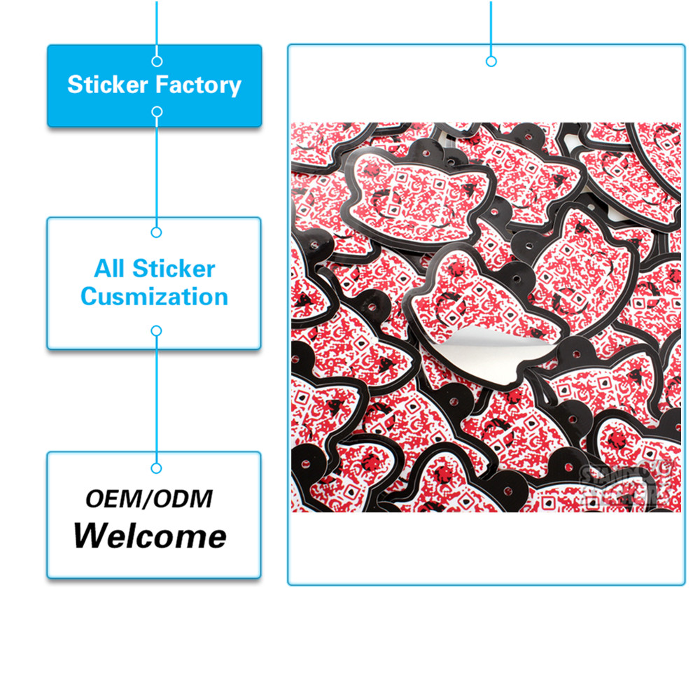 Factory price waterproof pvc strong glue best selling for custom vinyl stickers