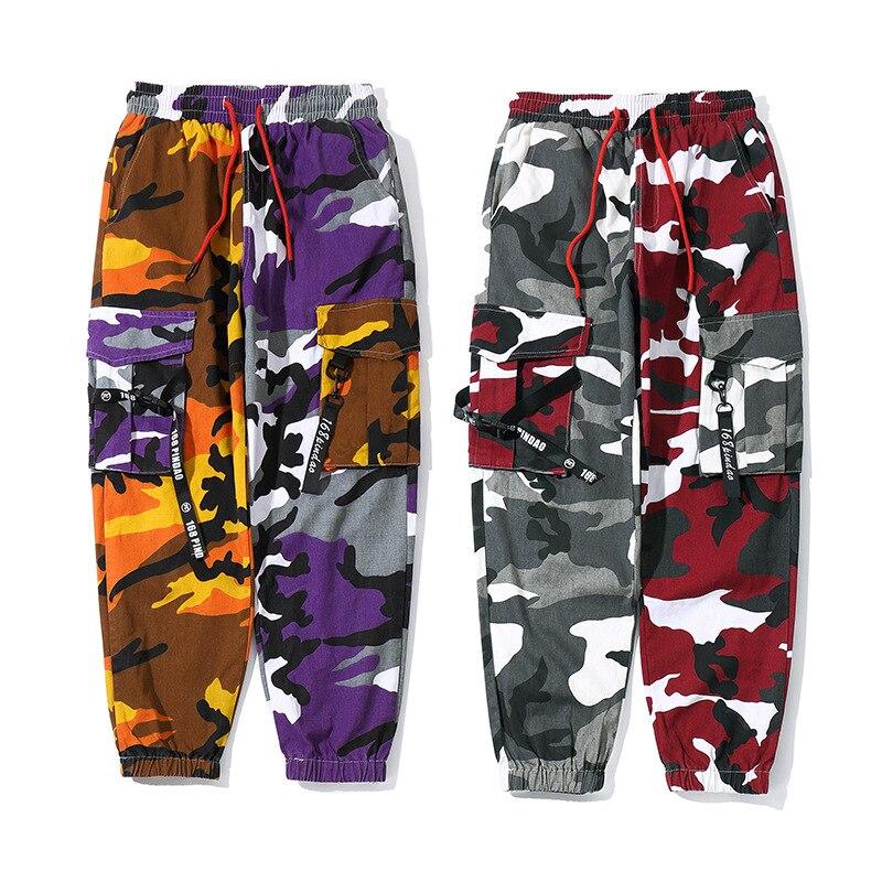 Jungen Kleidung Hip Hop Camouflage Cargo Hosen Männer Jogger Hosen Streetwear Männer Multi Taschen 2019 Mode Herren Cargo Pant Camo Military Hw196