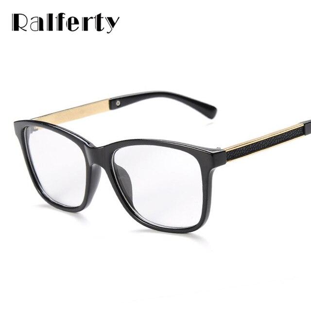 a8c642d5b2fb Ralferty Glasses Frames Woman Man Eyeglasses Frame for Myopia Vew Plica Eye  Glasses Plain Mirror Glass Vintage Black Spectacles