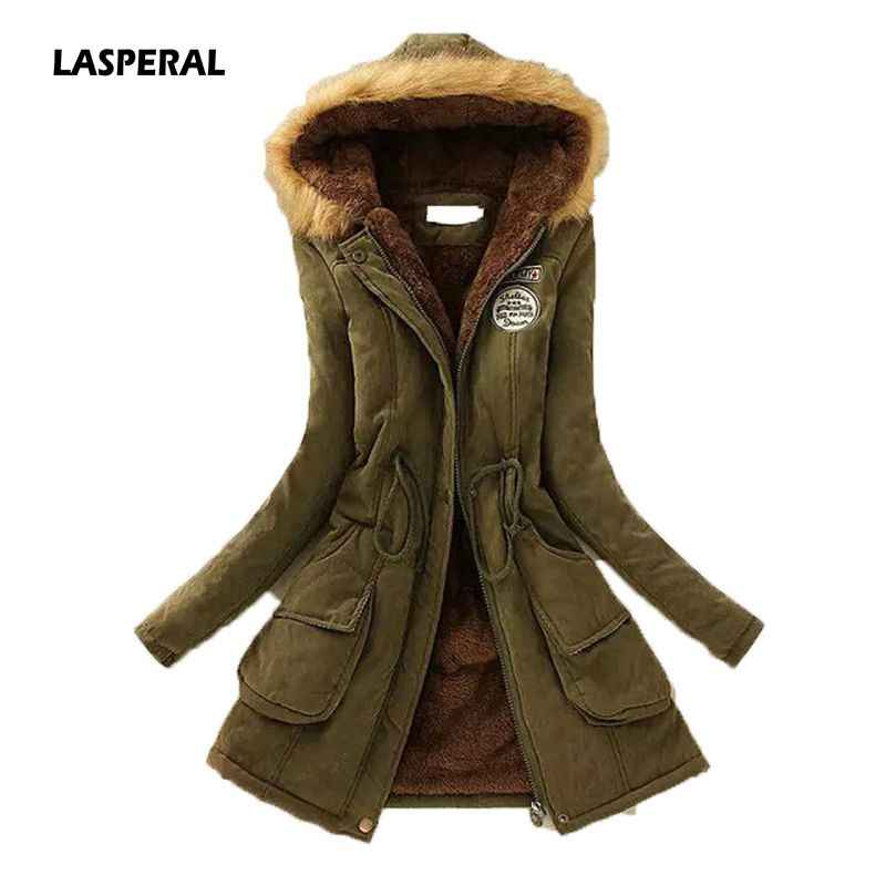 LASPERAL 2020 New Parkas 여성 여성 겨울 코트 짙은면 겨울 자켓 Flully Womens Outwear Parkas 여성용 겨울