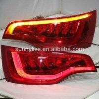 Для Audi Q7 светодиодный фонарь задний лампы 2010 2015 год красные, черные OEM