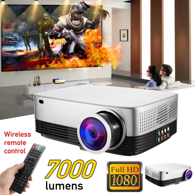Cheap Portable LCD Projector Home Cinema Theater Movie LED Proyector HD Mini Projectors Support 1080P 7000 Lumens