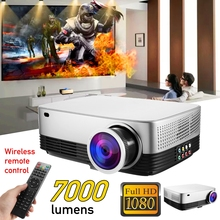Portable LCD Projector Home Cinema Theater Movie LED Proyector HD Mini Projectors Support 1080P 7000 Lumens