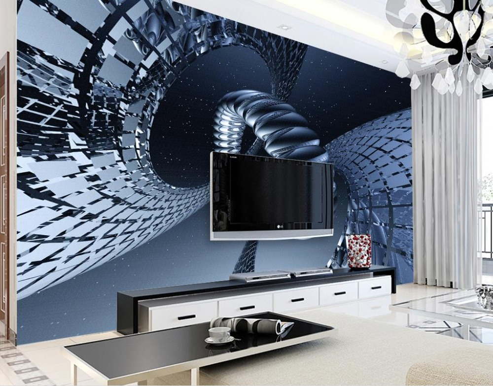 Custom 3d luxury-wall-paper nonwoven Modern science and technology abstract starry fantasy mood background 3d mural wallpaper озонатор бытовой days of science and technology tm017 5g h