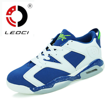 LEOCI Women Men Basketball Shoes Low Cut Real Air Sole Sport Sneakers Indoor Outdoor Shoes Basketball Zapatillas De Basquet