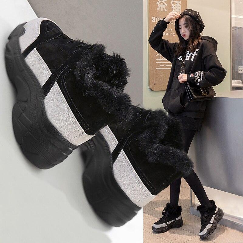 Coréenne 1 Velours Version De Ulzzang Super Fond 2 Plus Feu Chaussures Harajuku Ins Épais Nouveau Femmes 2018 Vieux qa1Xfx