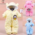 2016 Newborn Baby Clothes Kids Cartoon Coral Fleece Winter Baby Rompers Infant Jumpsuits Clothing Sets For Baby Girls Clothes