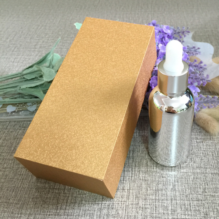 4pcs 30ml vacuum plating silver empty  dropper bottle With wooden box,glass essential oil bottle, perfume subpackage jar illusion money box dream box money from empty box wonder box magic tricks props comedy mentalism gimmick