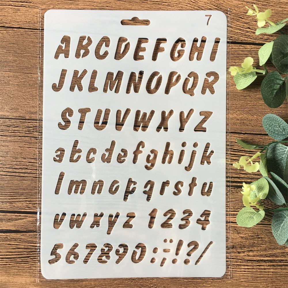 26cm Alphabet Letters DIY Craft Layering Stencils Painting Scrapbooking Stamping Embossing Album Paper Card Template