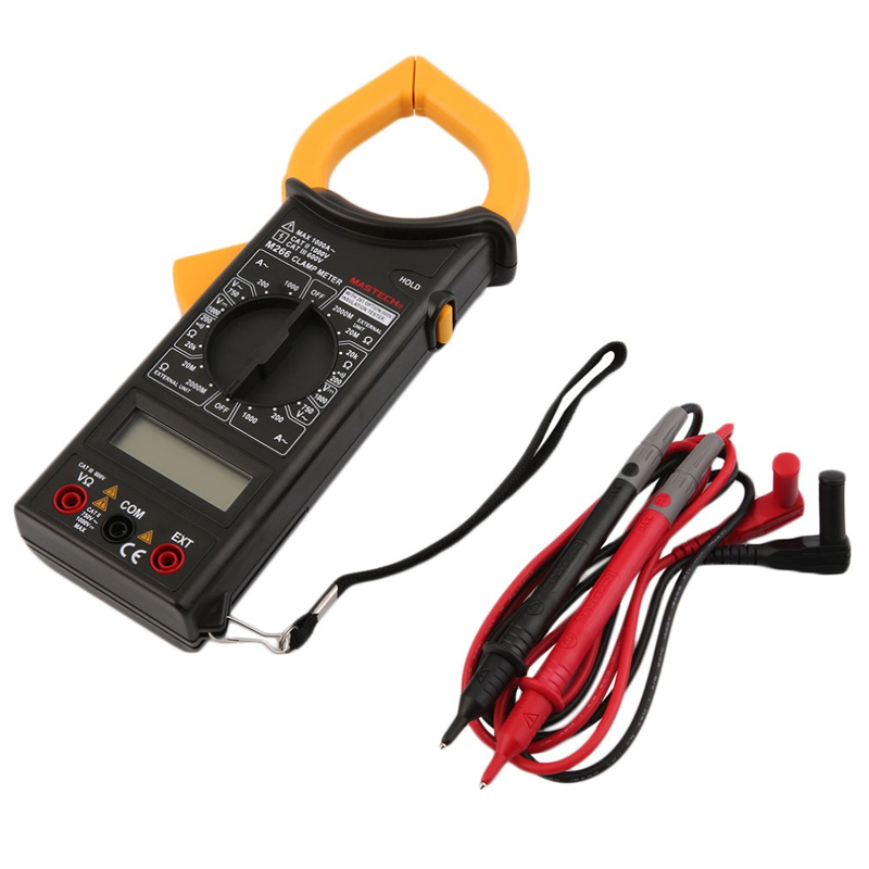 1pcs MASTECH M266 Digital AC Clamp Meter AC/DC Voltage AC Current Resistance Frequency Tester with temperature measurement  цены