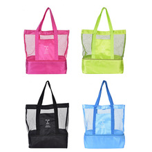 Hiking Picnic Bag Double Layer Thermal Insulation Multifunctional Picnic Camping Traveling Bag Male and Female Sports Beach Bag