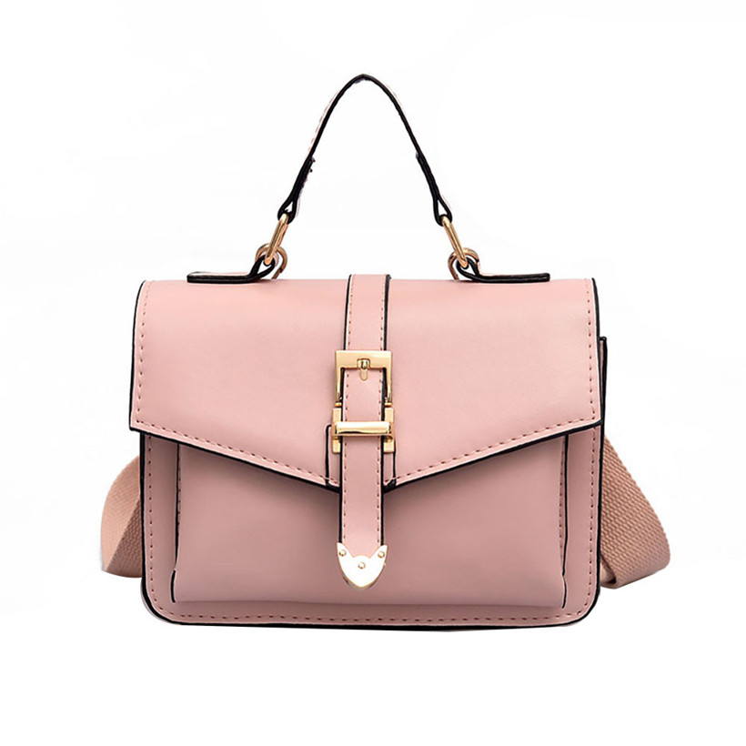 Women's Fashion Leather Simple Solid Handbag Small Shoulder Bags Crossbody Bags For Girls Messenger Bags For Female Bolso Mujer