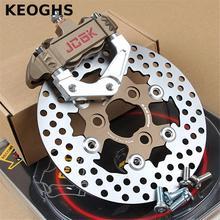Big discount KEOGHS Cnc Motorcycle Fork Brake Calipers Brake Caliper Adapter Bracket 200mm Disc Set For Yamaha Force Jog Rsz Bws  Aerox