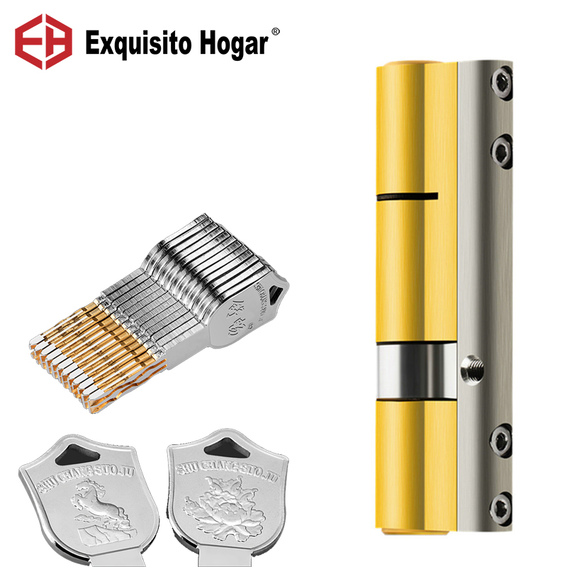 Entrance Door Lock Cylinder More Key 12/20/30 Pcs Sided Stainless Steel Anti Prying Bar Brass Serpentine Groove Key