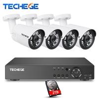 Techege Security Camera System 8CH CCTV System 8ch DVR 1080P HDMI Video Output 4pcs 1080P AHD