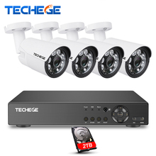Techege Security Camera System 8CH CCTV System 8ch DVR 1080P HDMI Video Output 4pcs 1080P AHD Camera 2MP Camera Surveillance Kit