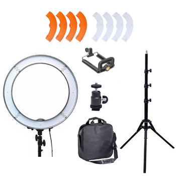 """48cm 19"""" 55W Dimmable LED Ring Light  with 185cm Light Stand + Fliter + Camera Phone Holder for Photo  Video Selfie Photography"""