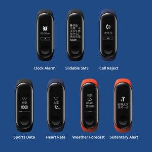 Image 2 - Nuevo Original Xiaomi mi Band 3 Smart Bracelet negro 0,78 pulgadas OLED mi band 3 muñequera Band3 mensaje instantáneo llamada Fitness Tracker