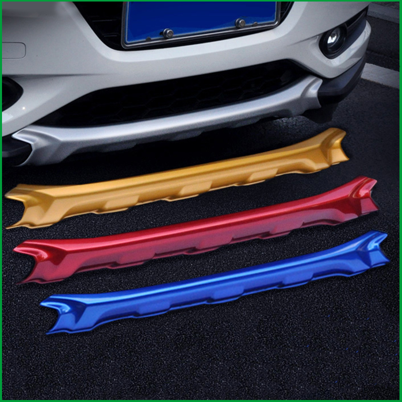 Car-styling Front Plus Rear Body Bumper protection Trim For Honda HR-V HRV 2014 2015 2016 Car Fender Guard Bumper Cover Trim plus open front tassel trim kimono