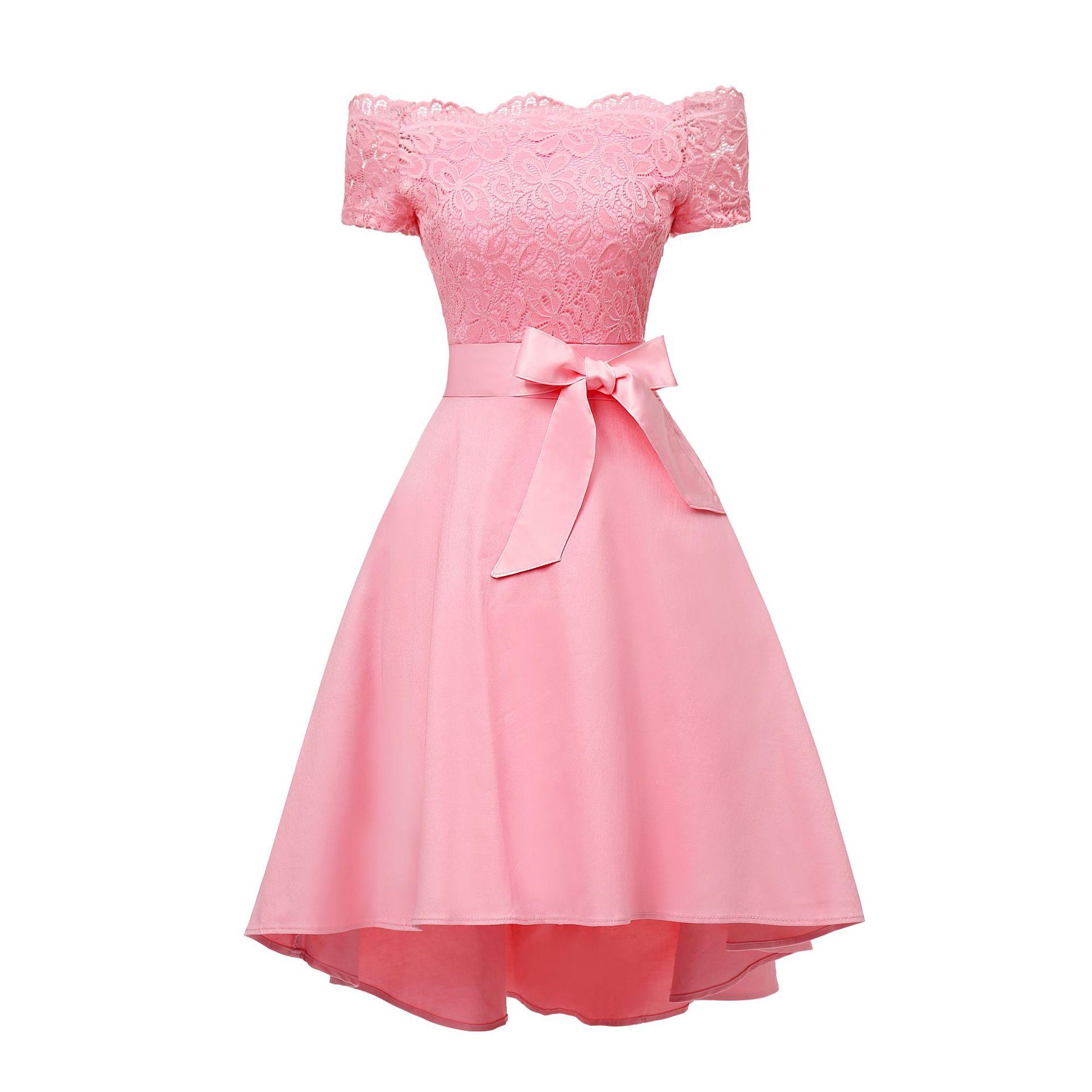 Real Photos Lace Elegant Short Bridesmaid Dress Vestidos De Festa Off Shoulder Formal Party Gowns Robe Demoiselle D'honneur