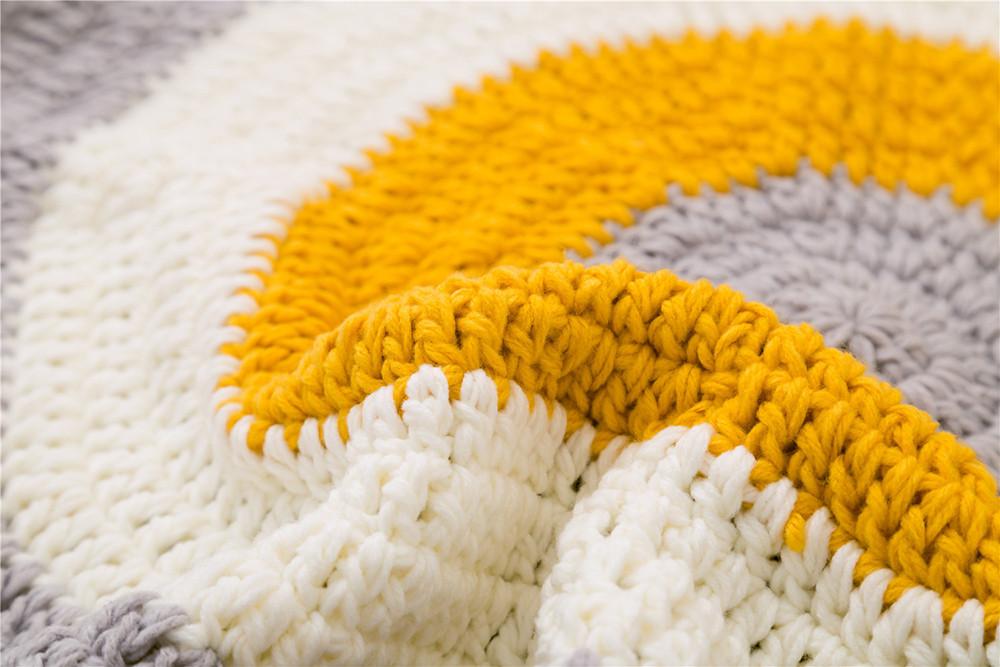 INS Children Premises Mat Hand-woven Mats Baby Play Mats Knitted Blanket Handmade Ball Children Premises Mat Crawling Mat (12)