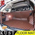 KUST 7PCS PU Leather Trunk Floor Mat For Honda For CRV 2012 To 2015 Trunk Floor Carpet Pad Mat For CRV 2016 Interior Accessories