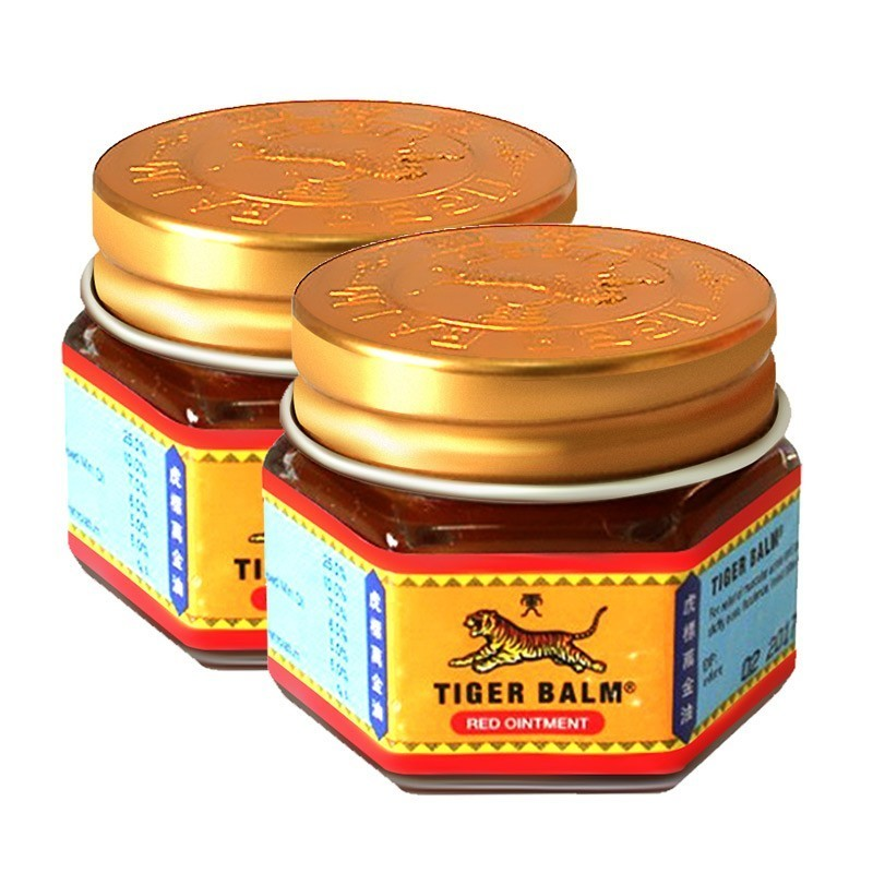 2pcs 100% Original Red Tiger Balm Ointment Thailand Painkiller Ointment Muscle Pain Relief Ointment Soothe Itch Massage Oil