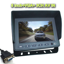 5 Inch Color TFT LCD 800 x 480 AV VGA Car Rear View Monitor Auto Car Rearview Parking Reverse Monitor