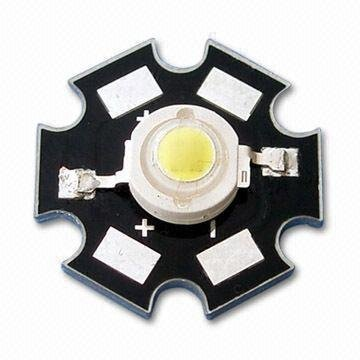 1W High power LED with 3.0 to 3.8V Forward Voltage/350ma;50-70lm;520-530nm;green color;with heatsink