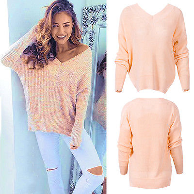 2017 New Autumn Winter Sweater New Arrival Women Fashion Sexy V-neck Loose 100% Wool Sweater Best Quality