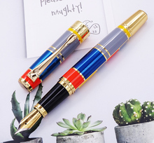 Hero 767 Fountain Pen with Golden Trim  Fashion Colored  Ink Pen Iridium Medium Nib Great for Gift Graduate Business Office dika wen luxury fashion beautiful golden carving mahogany paint medium nib roller ball pen new
