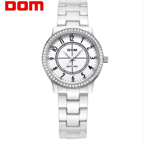 DOM luxury brand quartz watch for women simple waterproof style ceramic nurse watches fashion reloj hombre marca de lujo T-558 чехол флип pulsar shellcase для sony xperia z4 z3 черный