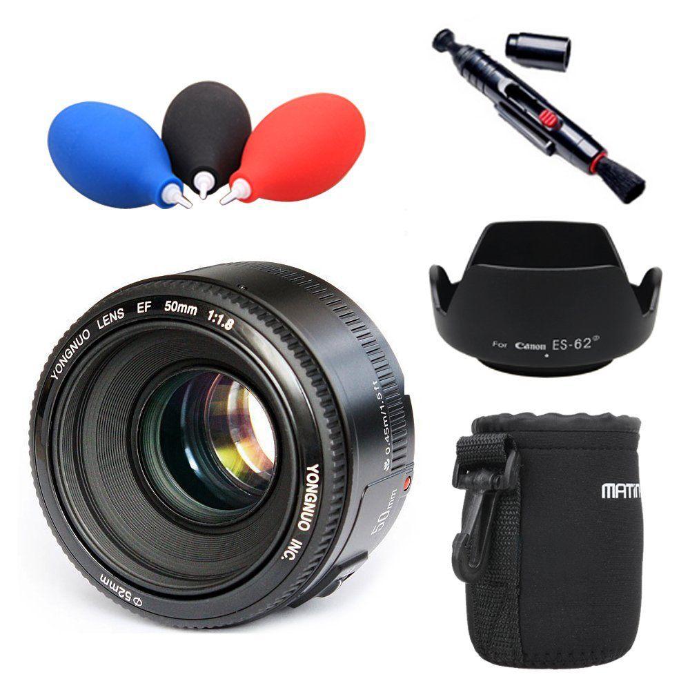 YONGNUO YN 50mm Lens fixed focus lens EF 50mm F/1.8 AF/MF lense Large Aperture Auto Focu ...