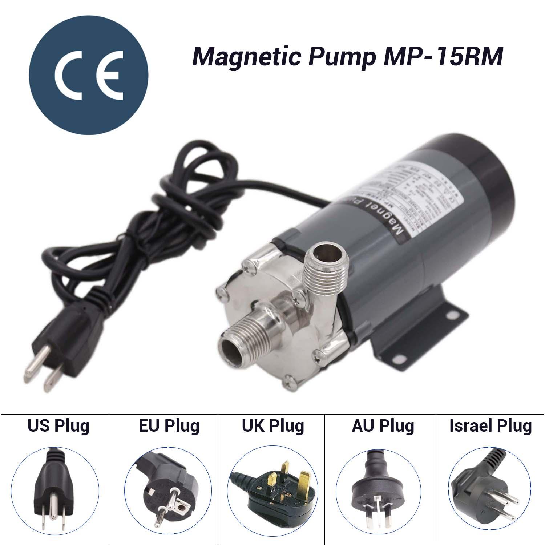 304 Stainless Steel Head Magnetic Drive Pump 25 Watt MP 15RM Homebrew Beer and Wine Pump