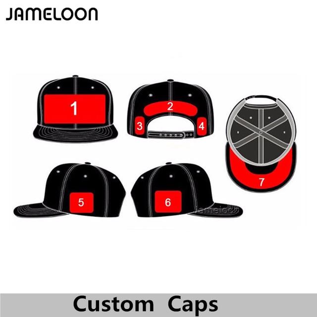 Custom Logo Snapback Caps Blank Hip Hop Hats Customized Baseball Caps LOGO  Printing Adult Hats Casual Hat Wholesale 5f33419060c