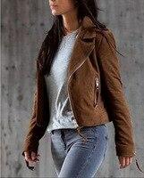 Women Khaki Zip Jacket Outfits 2015 New Winter Fashion Casual Women S Clothing