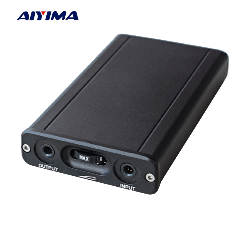 Aiyima Class A Portable Headphone Amplifier Board OPA2107 Fever HIFI Subwoofer Phone Headphone Amplifier With Aluminum Case newest fengru bluebird w d1 protable amplifier hifi fever amplifier portable diy headphone amplifier support otg decoder