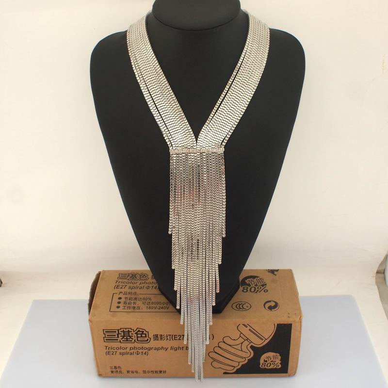 a53ba241593d UKMOC nueva moda de aleación de diamantes de imitación Collar de la cadena  de las mujeres vestido de noche de la joyería y bisutería collares y  gargantillas ...