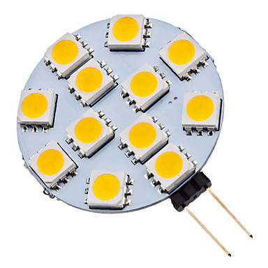 10x Ampoule 6 Led SMD 5050 G4 12V DC Dimmable 3W blanc froid bateau camping 90LM