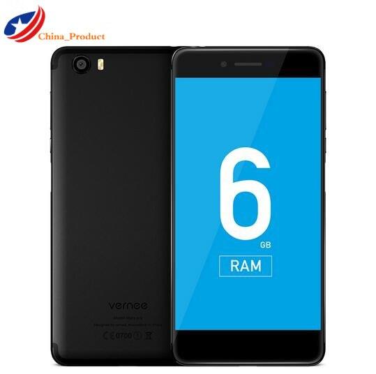 "Vernee Mars Pro 4G LET 6G RAM 64ROM MTK6757T Octa core Android 7.0 Mobile Phone 5.5"" 13.0MP Cell Phone Fingerprint Smartphone"